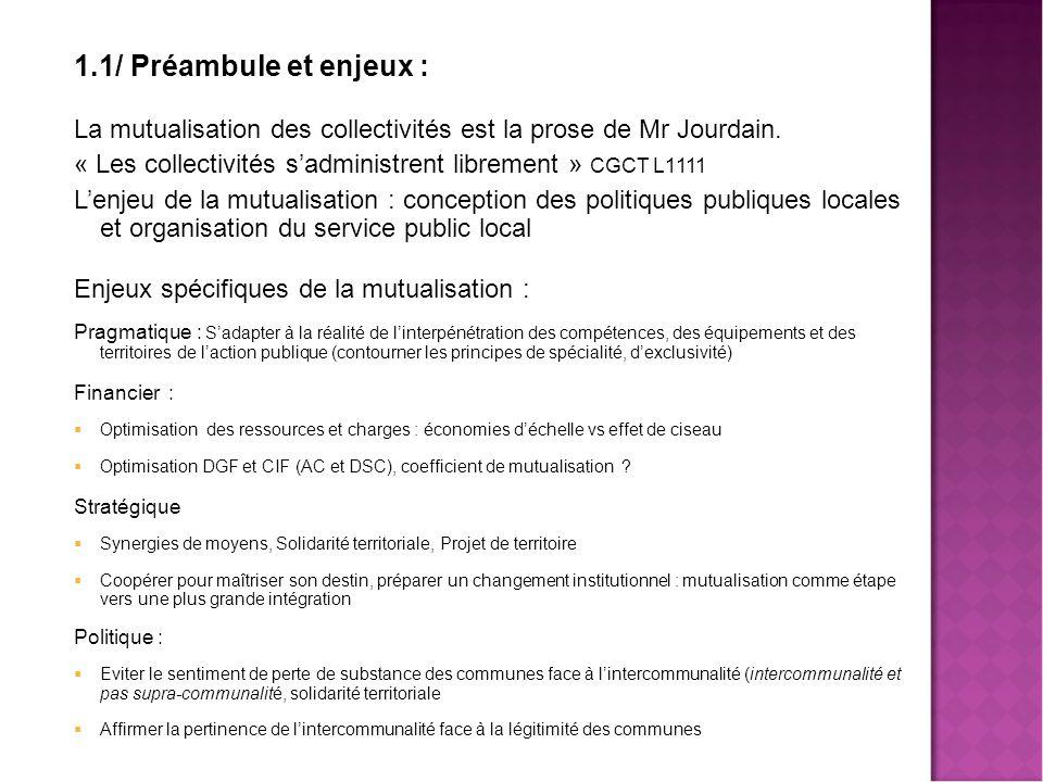 Mutualisation des services - Jean Louis PARROT
