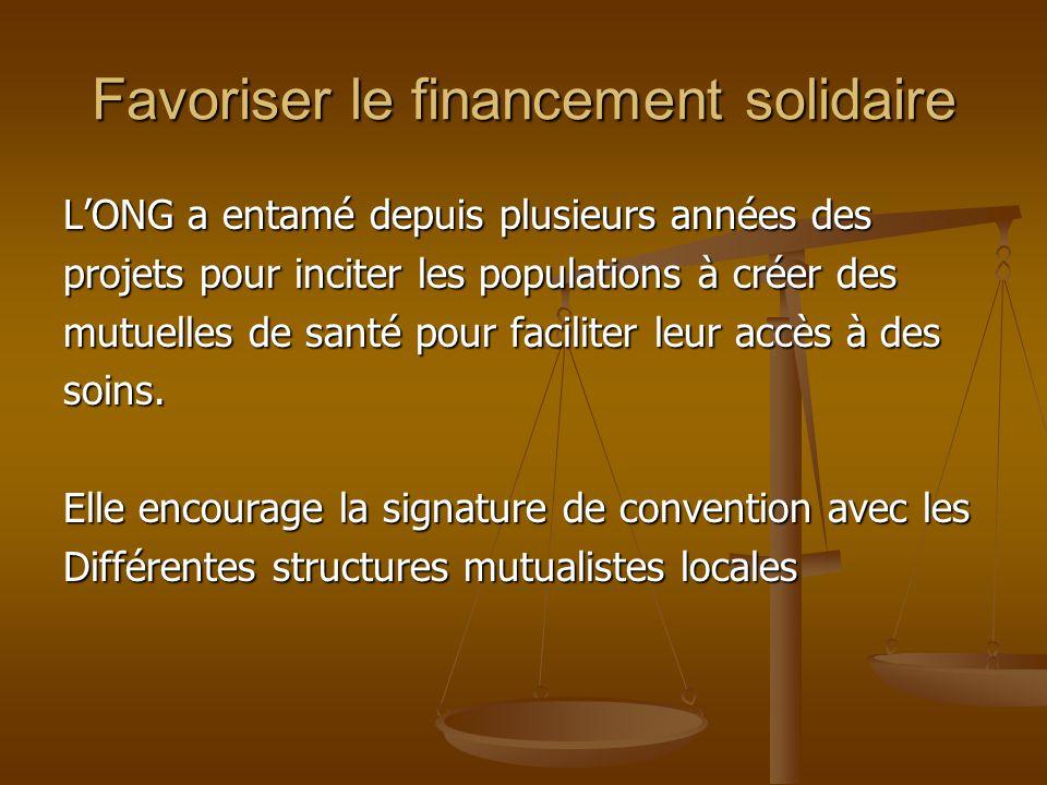 Favoriser le financement solidaire