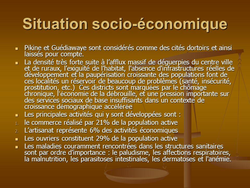 Situation socio-économique