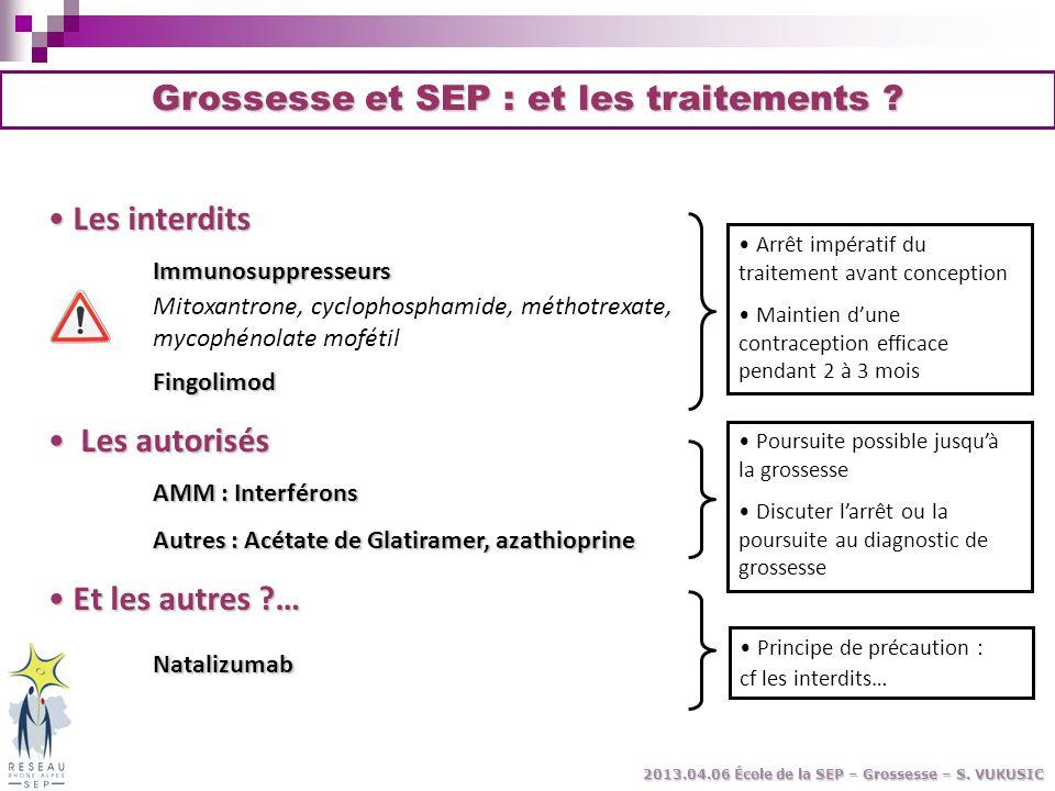 Grossesse et SEP : et les traitements