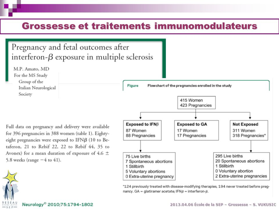 Grossesse et traitements immunomodulateurs