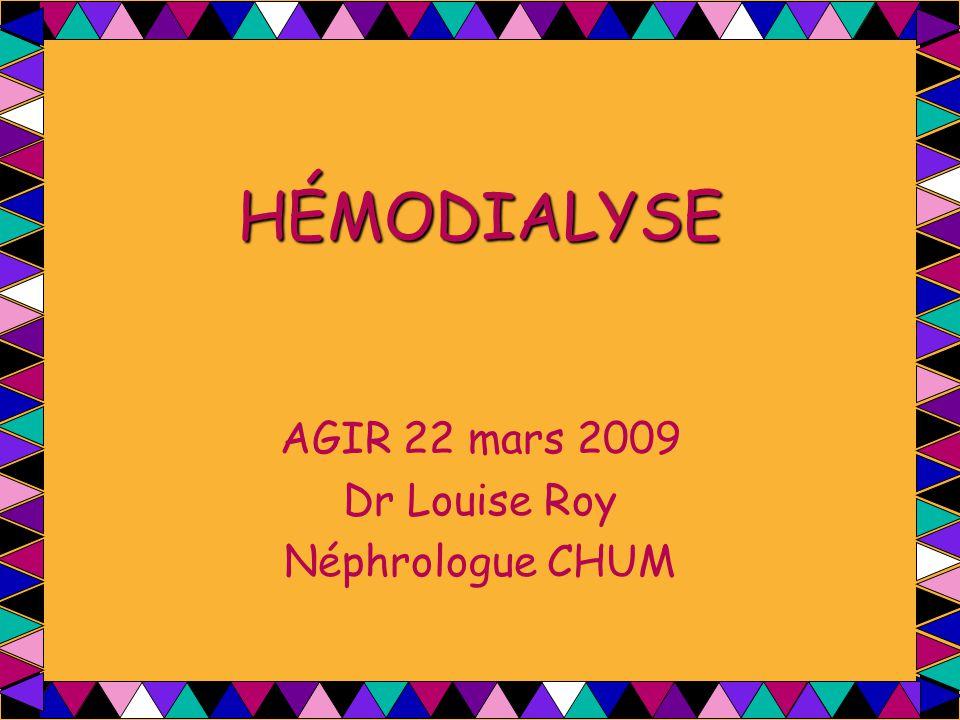 AGIR 22 mars 2009 Dr Louise Roy Néphrologue CHUM