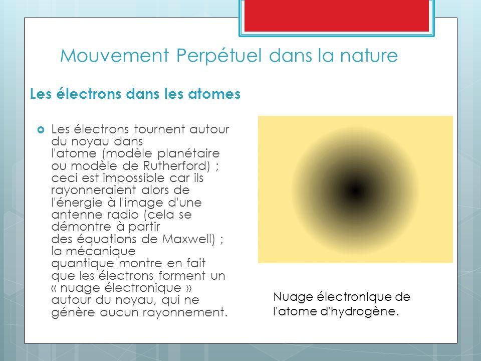 Mouvement Perpétuel dans la nature