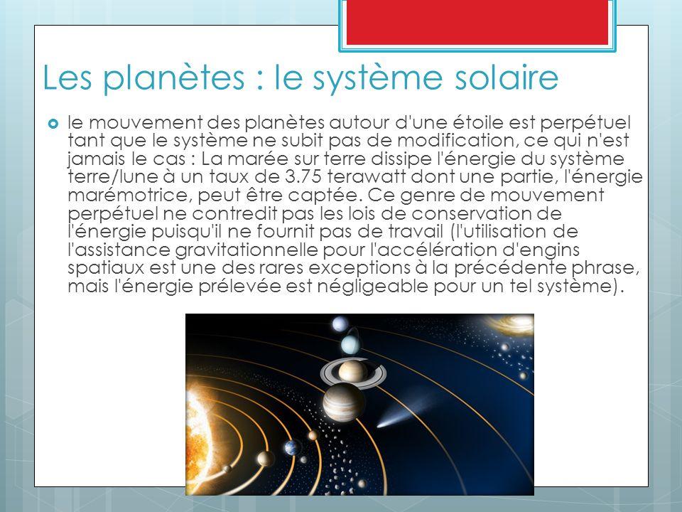 Les planètes : le système solaire