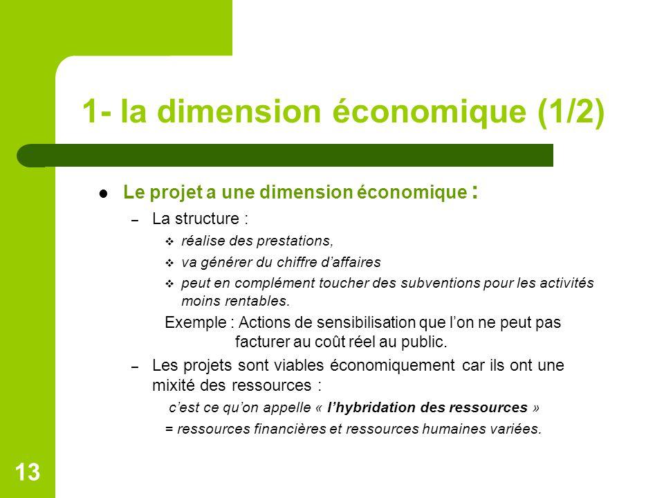 1- la dimension économique (1/2)