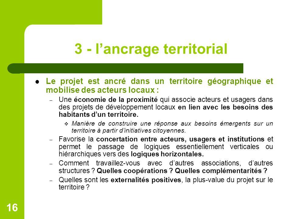 3 - l'ancrage territorial