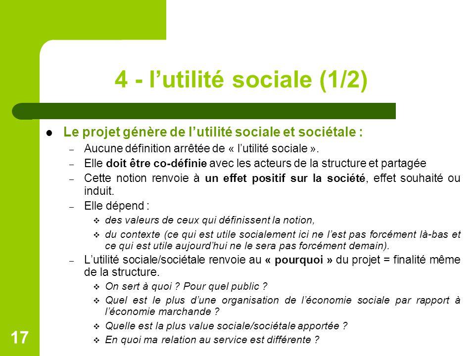 4 - l'utilité sociale (1/2)