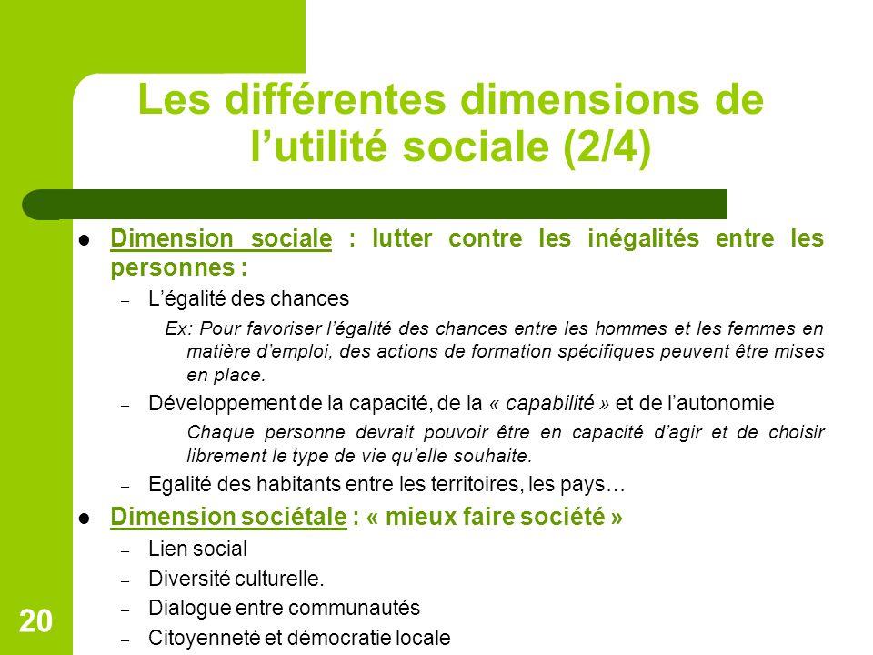 Les différentes dimensions de l'utilité sociale (2/4)