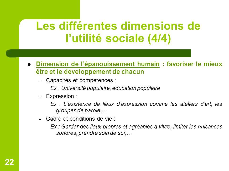 Les différentes dimensions de l'utilité sociale (4/4)