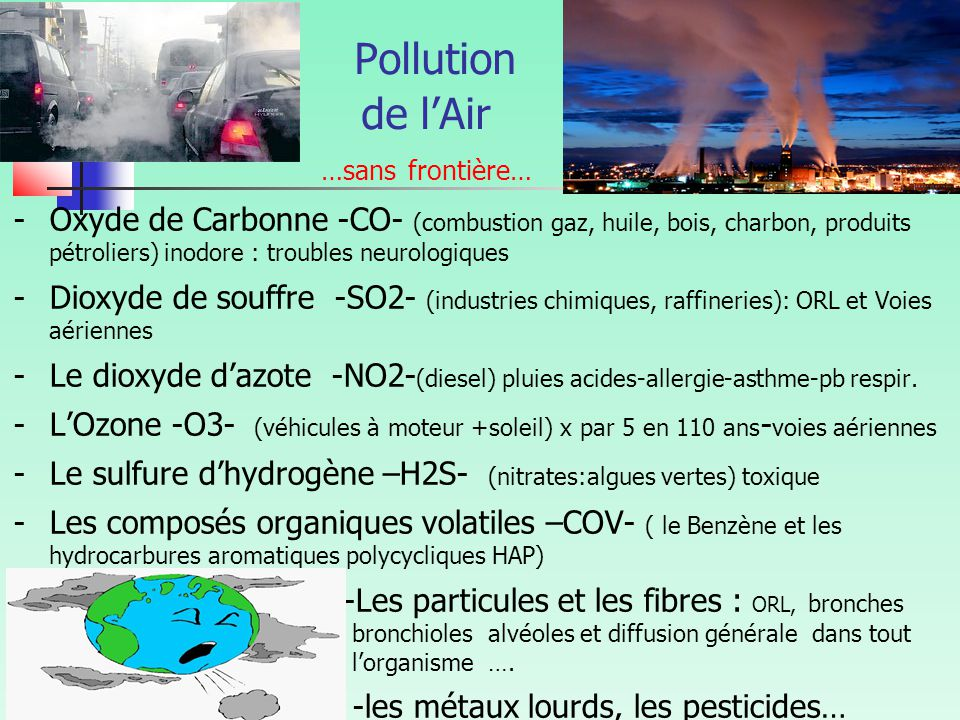 Pollution de l'Air …sans frontière…