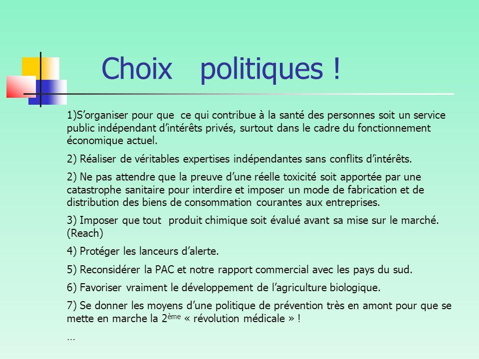 Choix politiques !