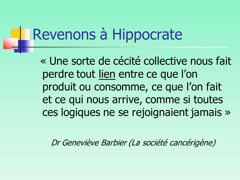 Dr Geneviève Barbier (La société cancérigène)