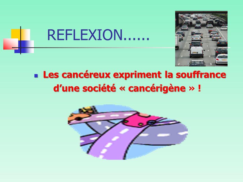 REFLEXION...... Les cancéreux expriment la souffrance