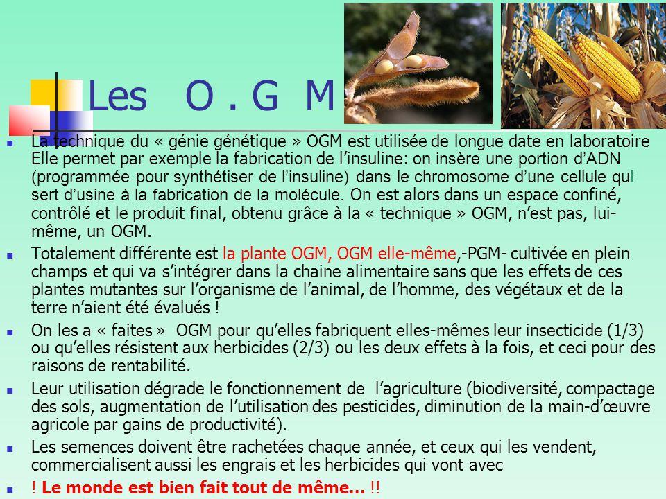 Les O . G M