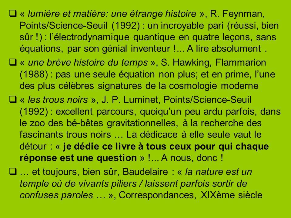 « lumière et matière: une étrange histoire », R