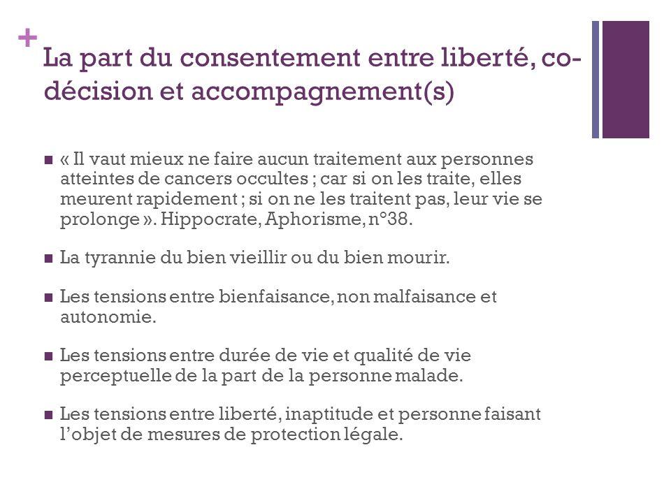 La part du consentement entre liberté, co-décision et accompagnement(s)