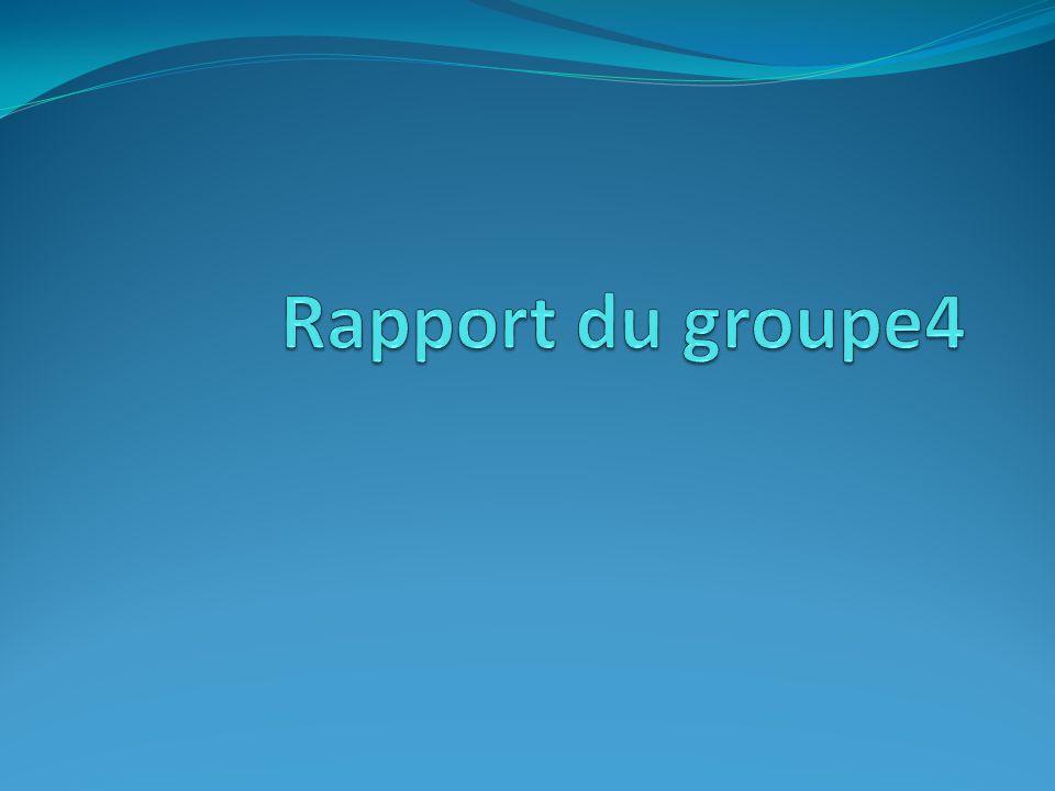 Rapport du groupe4