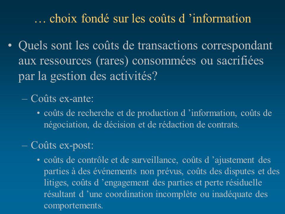 … choix fondé sur les coûts d 'information
