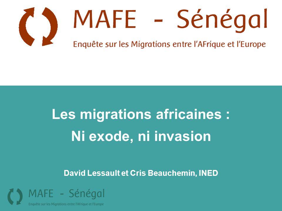 Les migrations africaines : David Lessault et Cris Beauchemin, INED