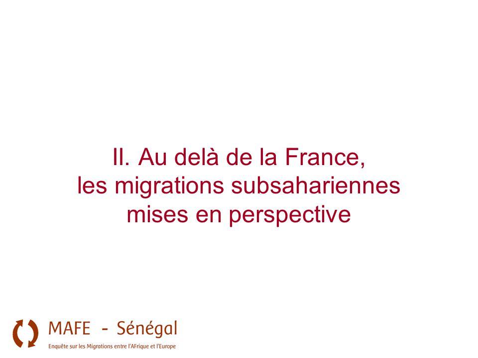 II. Au delà de la France, les migrations subsahariennes mises en perspective