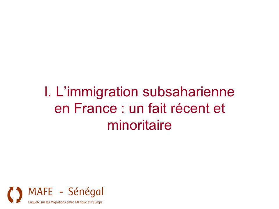 I. L'immigration subsaharienne en France : un fait récent et minoritaire