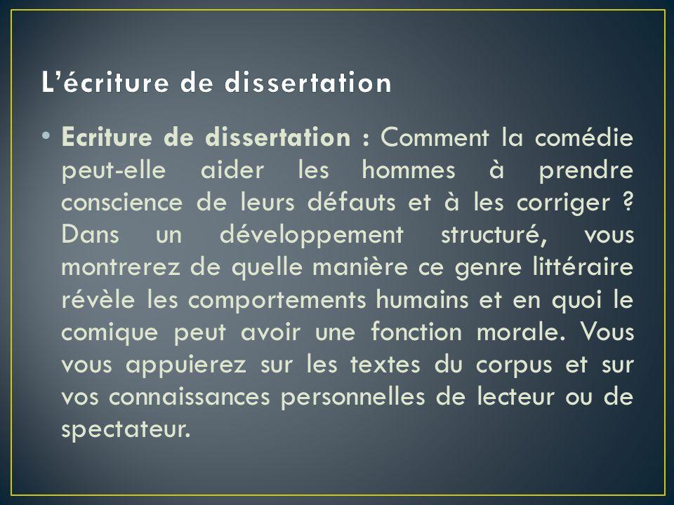 L'écriture de dissertation