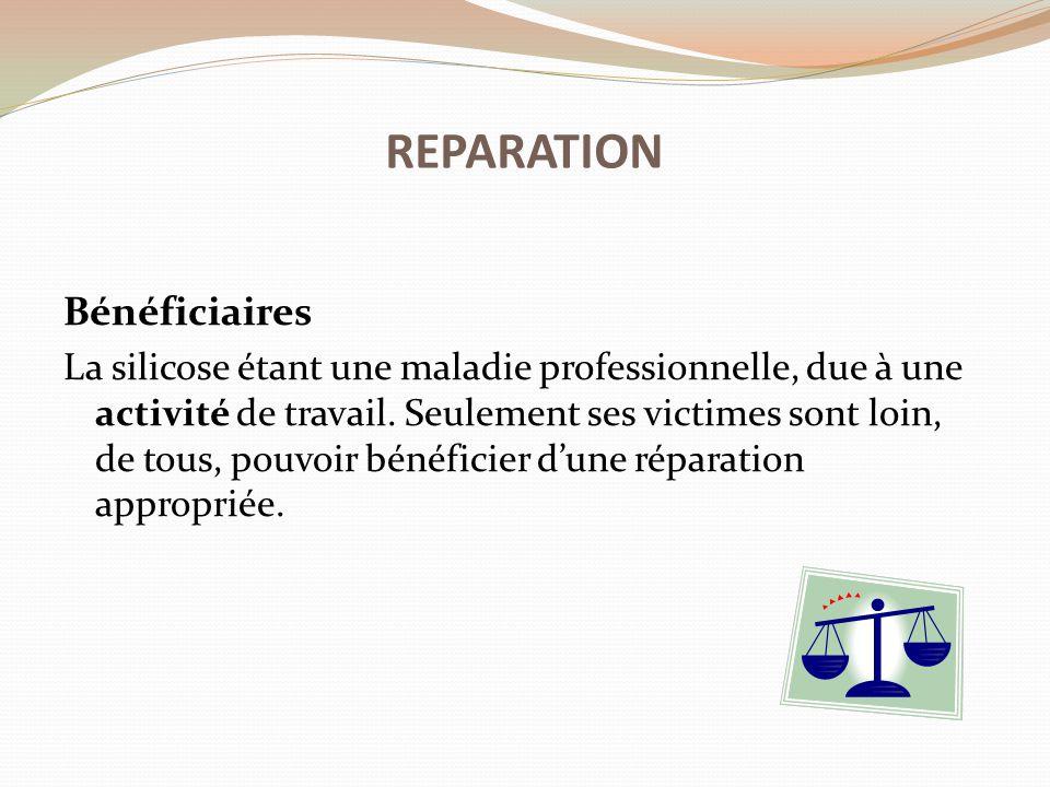 REPARATION Bénéficiaires