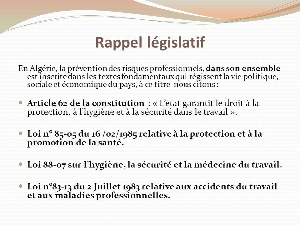 Rappel législatif