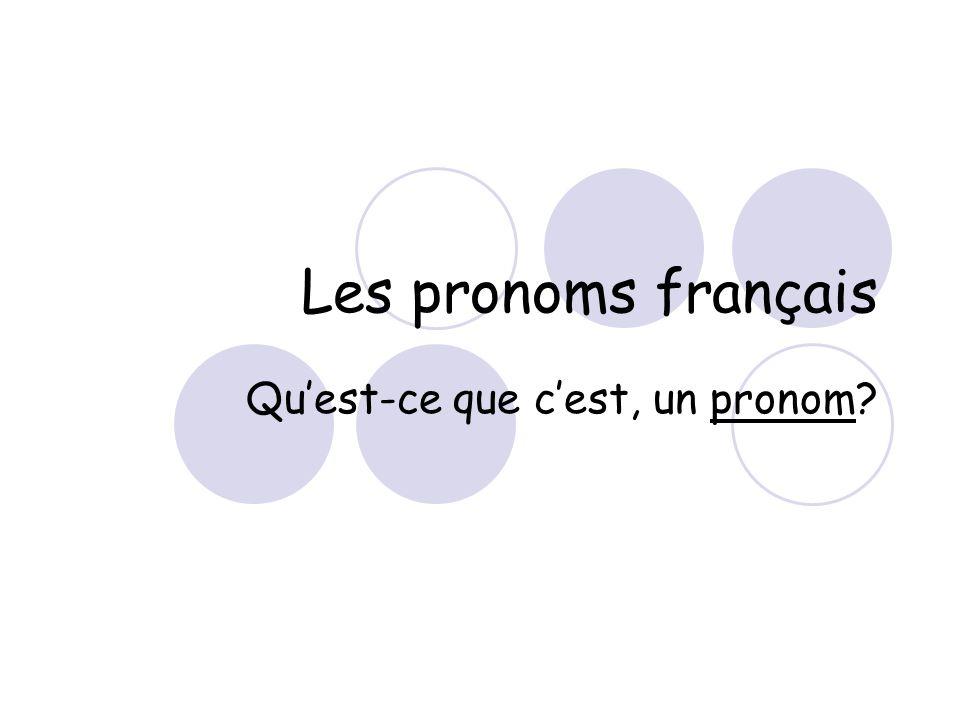 Qu'est-ce que c'est, un pronom