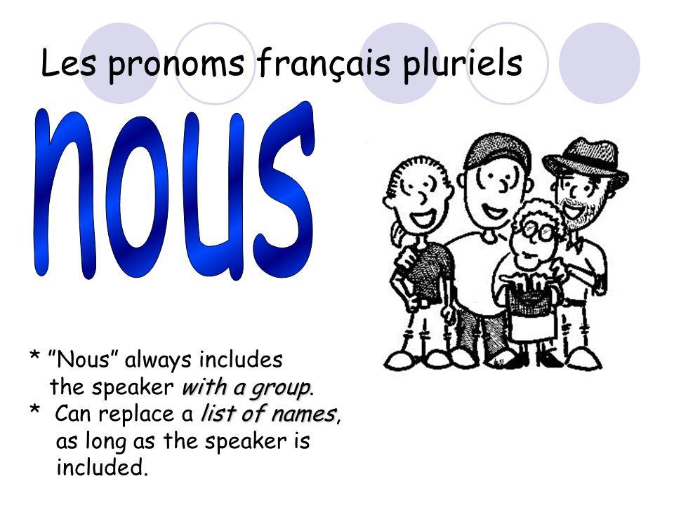 Les pronoms français pluriels