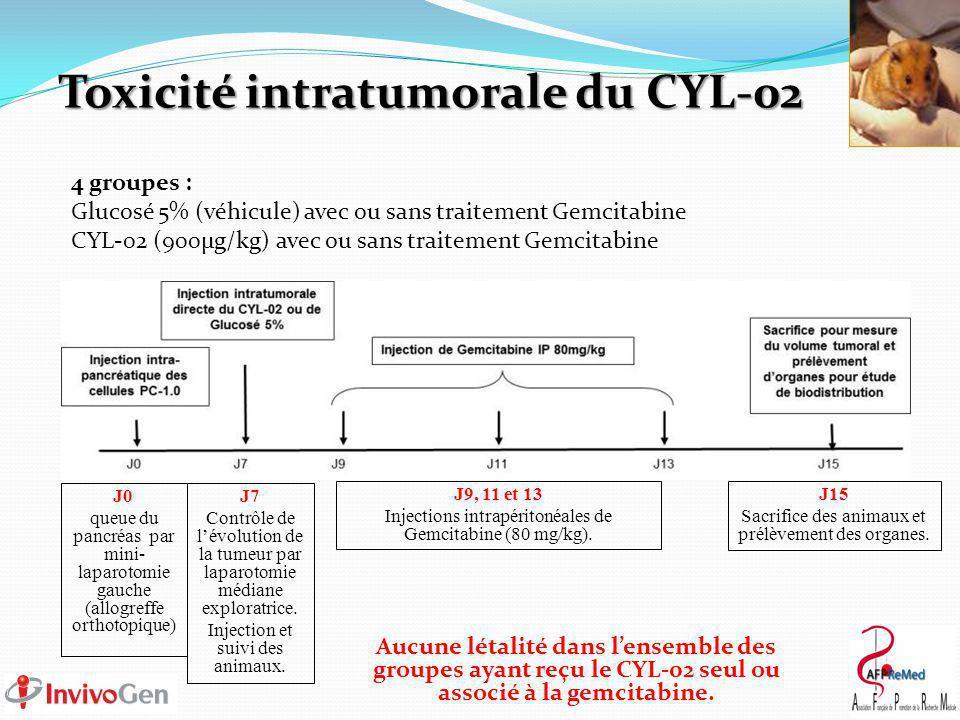 Toxicité intratumorale du CYL-02