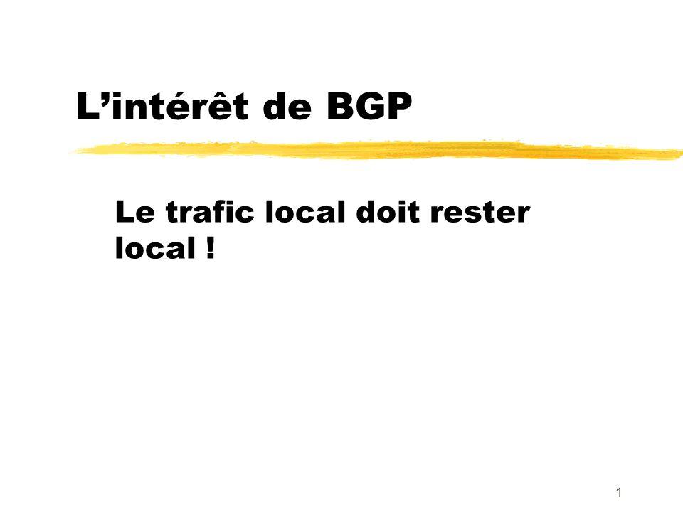 Le trafic local doit rester local !