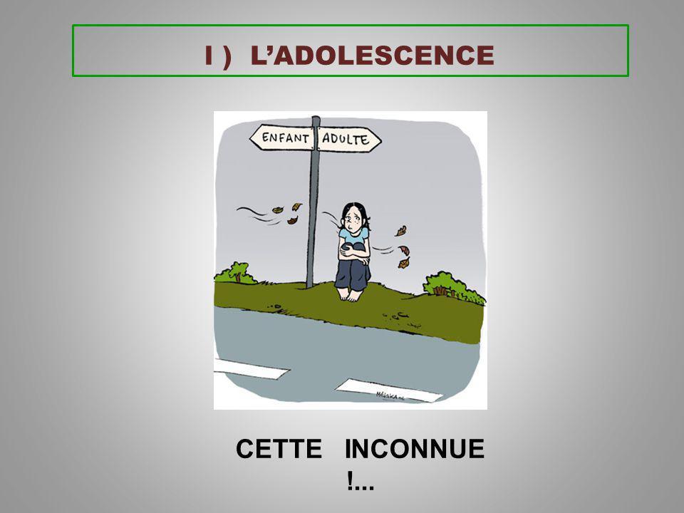 l ) L'ADOLESCENCE CETTE INCONNUE !...