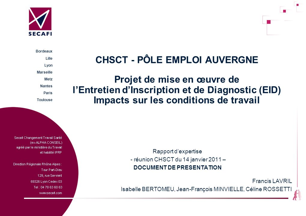 DOCUMENT DE PRESENTATION