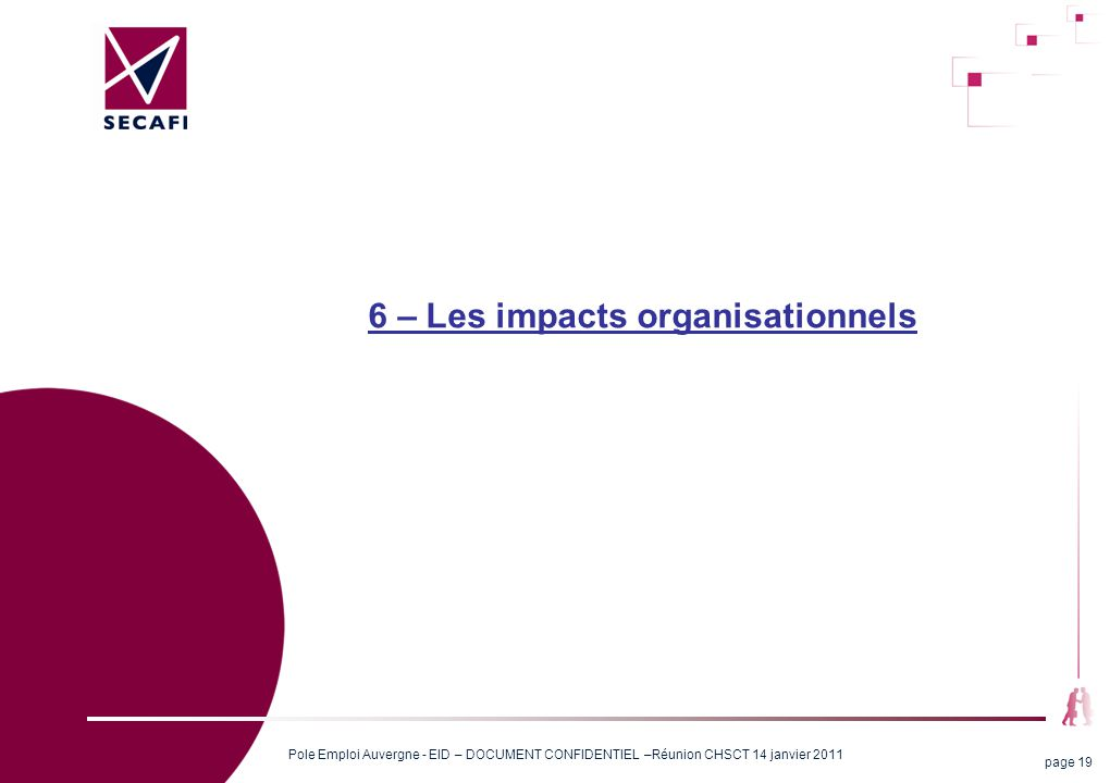 6 – Les impacts organisationnels