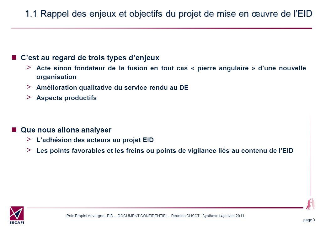 1.1 Rappel des enjeux et objectifs du projet de mise en œuvre de l'EID