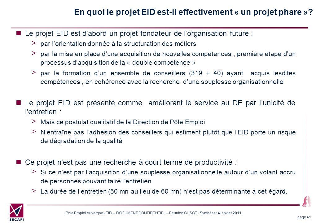 En quoi le projet EID est-il effectivement « un projet phare »