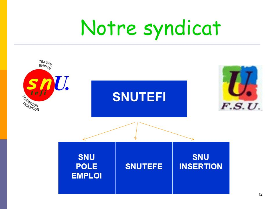 Notre syndicat SNUTEFI SNU POLE EMPLOI SNUTEFE INSERTION