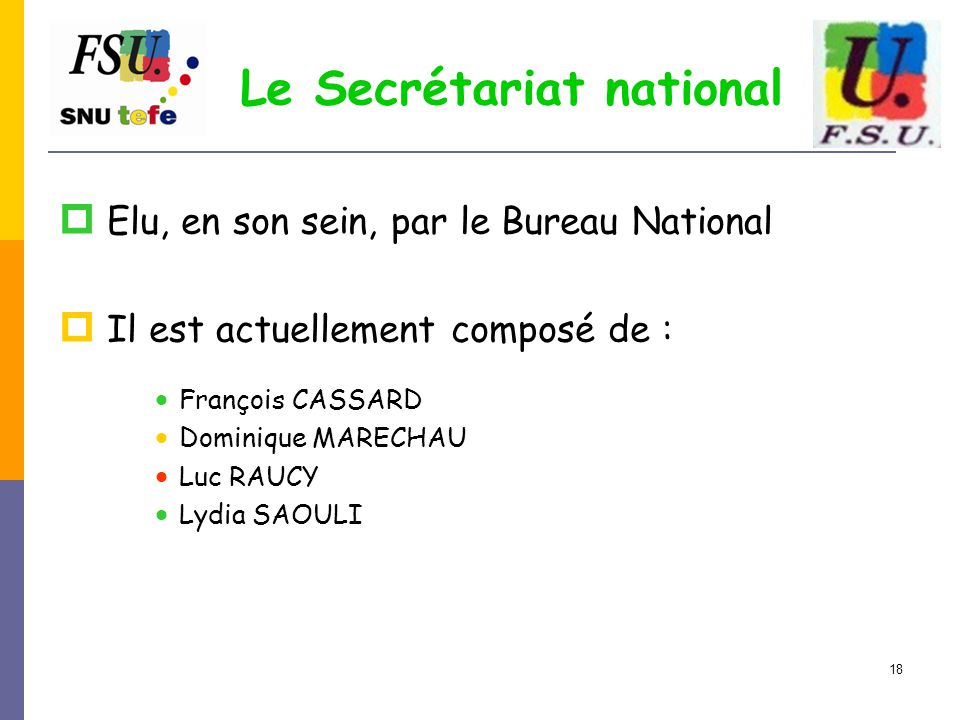 Le Secrétariat national