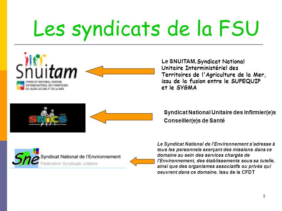 Les syndicats de la FSU