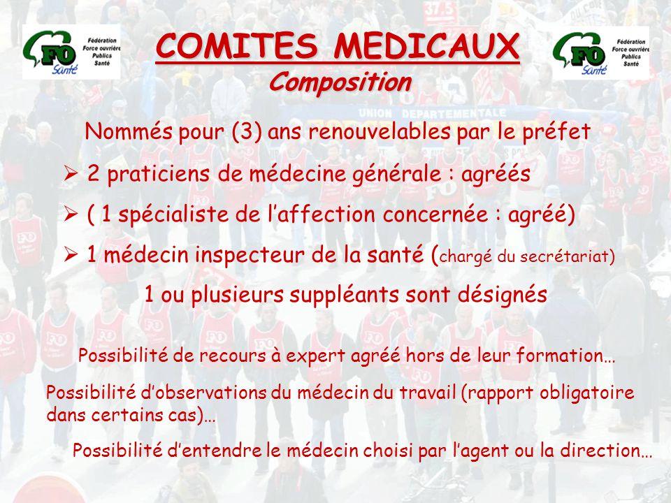 COMITES MEDICAUX Composition