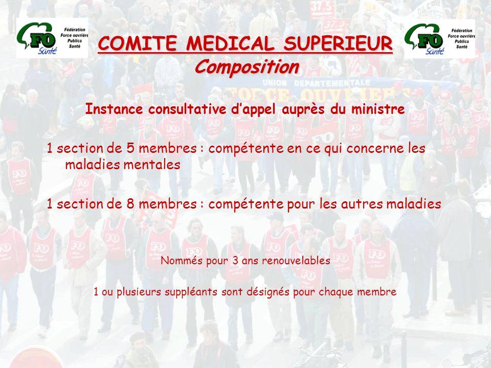 COMITE MEDICAL SUPERIEUR Composition