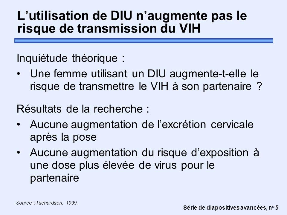 L'utilisation de DIU n'augmente pas le risque de transmission du VIH