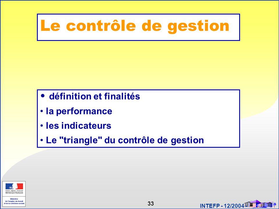 Le contrôle de gestion définition et finalités la performance