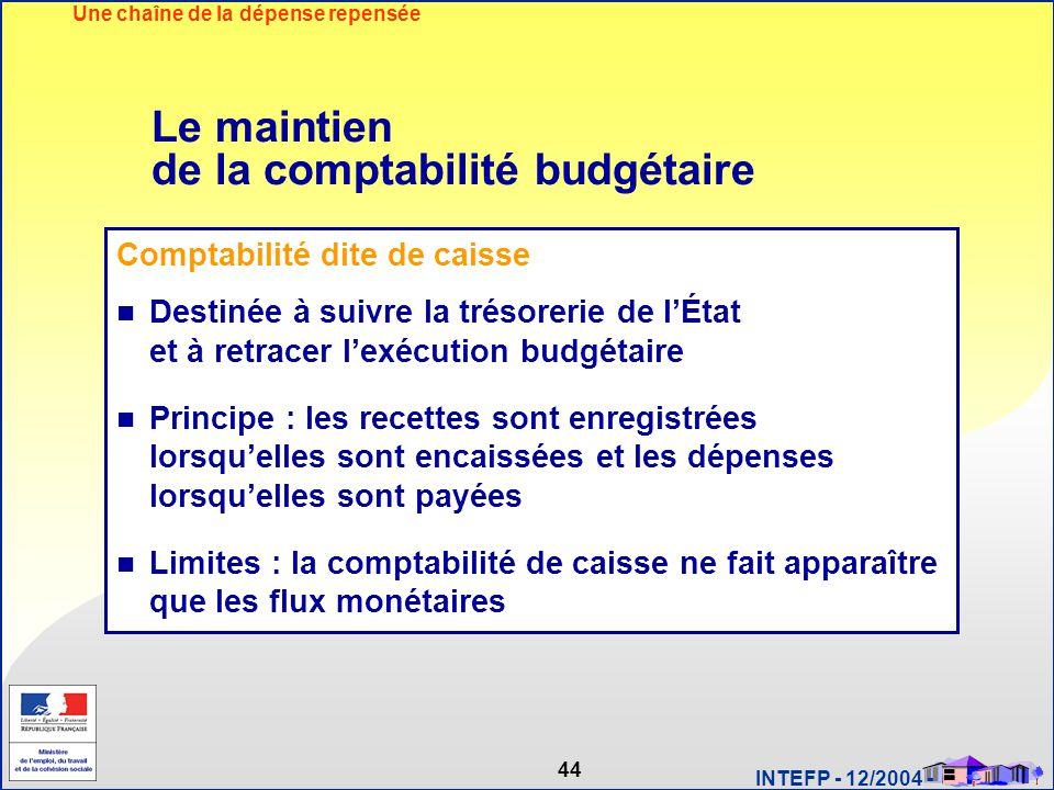 Le maintien de la comptabilité budgétaire