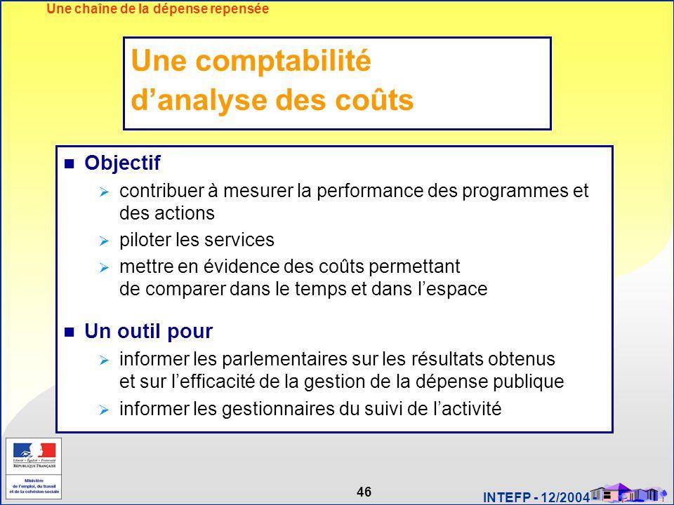 Une comptabilité d'analyse des coûts