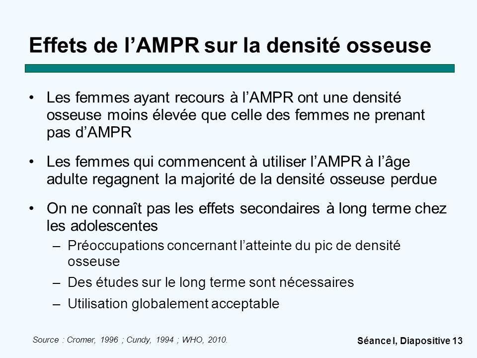 Effets de l'AMPR sur la densité osseuse