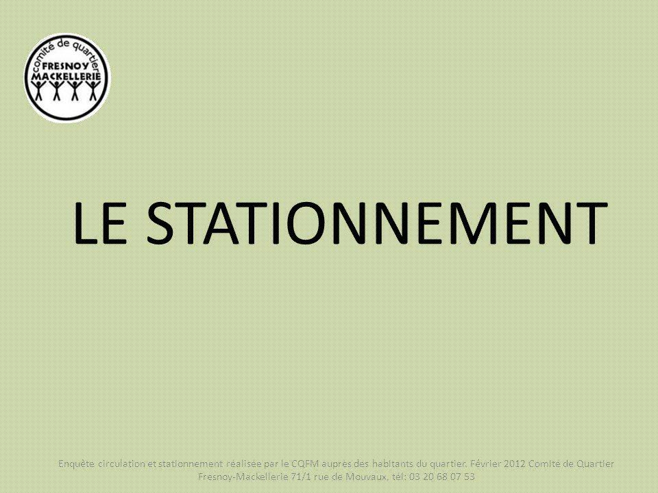 LE STATIONNEMENT