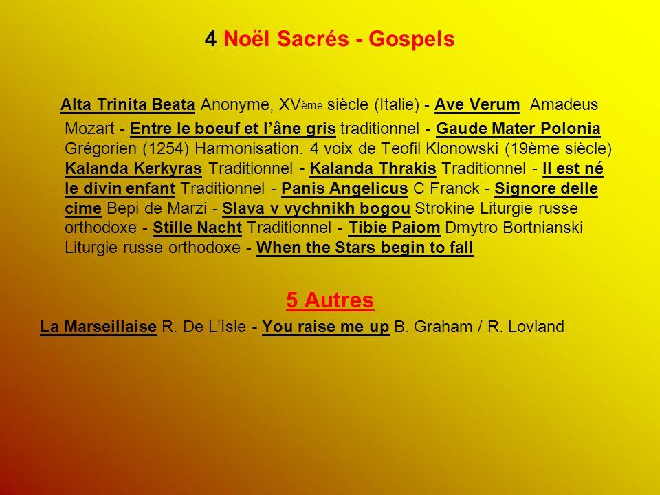 4 Noël Sacrés - Gospels