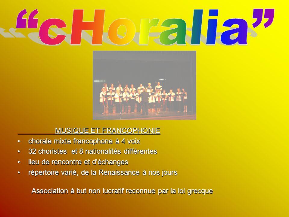 cHoralia chorale mixte francophone à 4 voix